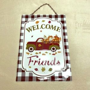 Welcome Friends Autumn Sign w/Truck NWT